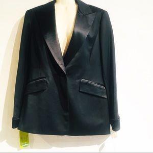 Lafayette 148 Black Classic Tuxedo Jacket Blazer